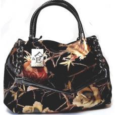 Женская замшевая сумка черная Polina & Eiterou 330N-49