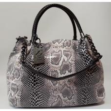 Женская сумка бежевая под питона Polina & Eiterou Q77N-29
