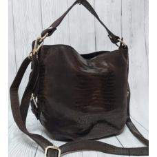 Женская сумка из натуральной кожи 49N Коричневый