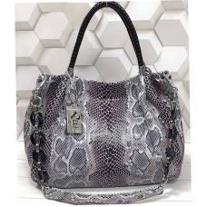 Женская кожаная сумка бежевая Q503N