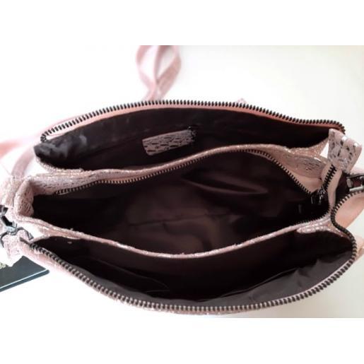 Женская кожаная сумка 85N6 Розовый