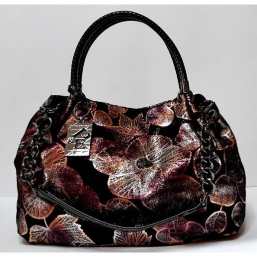 Женская кожаная сумка Polina & Eiterou Q211-2N Black