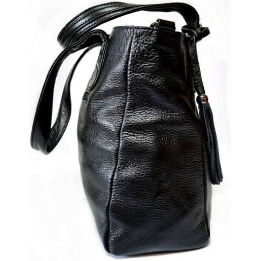 Женская сумка кожаная черная 313N