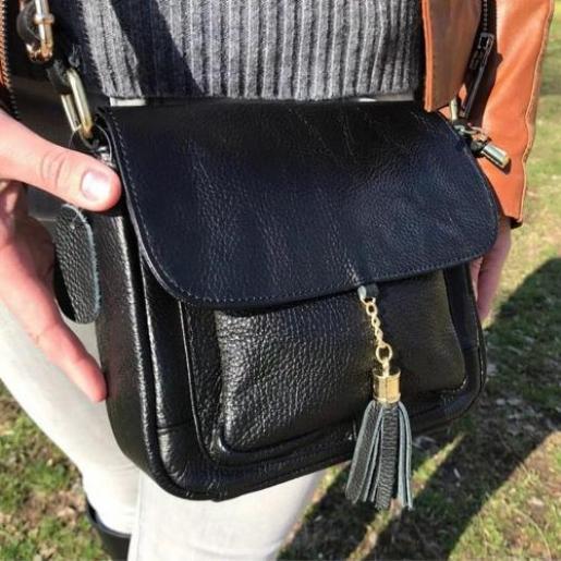 Кожаная женская сумка 03N17 Черный