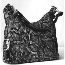 Женская кожаная сумка хобо черная Q511-39N-8