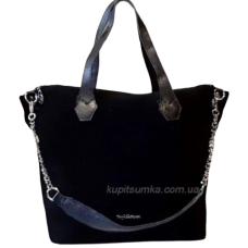 Женская сумка из натуральной замши Q18N Черный