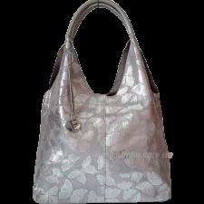 Женская кожаная сумка FR01N Серебристый