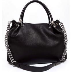 Женская сумка кожаная черная Polina & Eiterou 001N