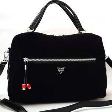 Замшевая женская сумка VF174N black