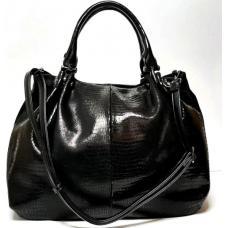 Женская кожаная сумка Polina & Eiterou BO400N Black