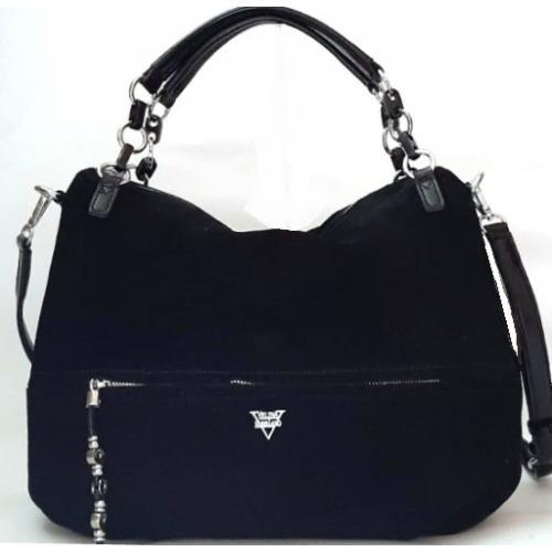 Женская сумка из замши VF172N black