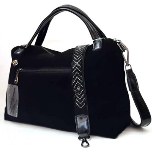 Женская сумка из натуральной замши VF175N black