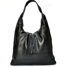 Женская кожаная сумка XL черная 306N