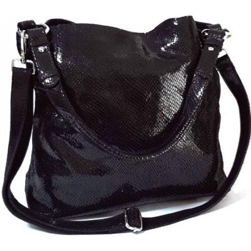 Кожаная женская сумка FR090-2 Черный