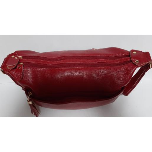 Женская кожаная сумка Hobo K11D95-3 burgundy