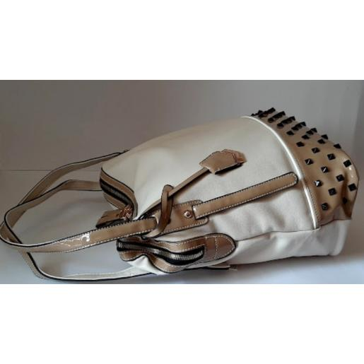 Женская сумка из кожзаменителя бежевая VF 564N