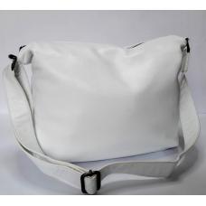 Сумка хобо женская кожаная 310N white