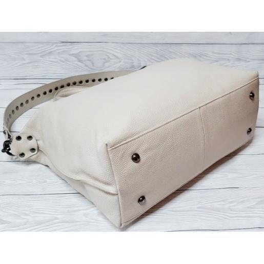 Женская кожаная сумка Polina & Eiterou BO129N Бежевый
