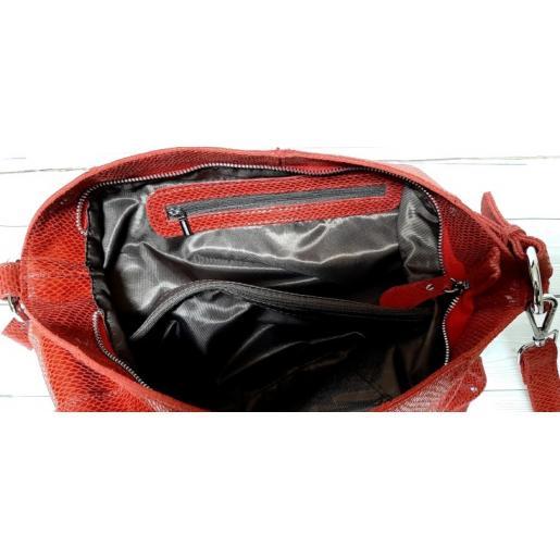 Женская кожаная сумка FR090-1 Красный