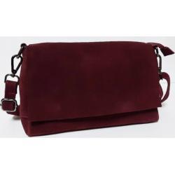 Замшевая женская сумка 85N-9 Бордовый