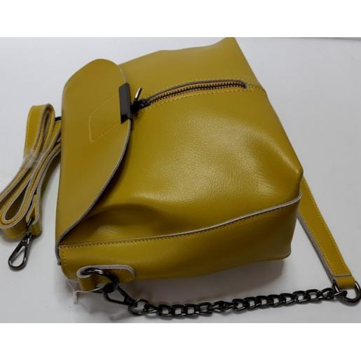Женская сумка из натуральной кожи 22N-1P Зеленый