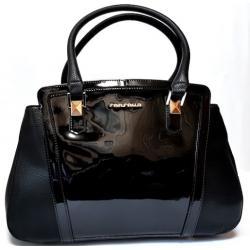 Женская сумка из кожзаменителя черная FR2028N