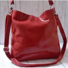 Женская кожаная сумка на плечо FR090-1 Красный