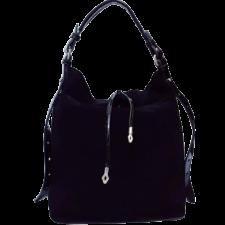 Женская сумка из замши черная VF191N