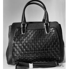 Женская сумка из кожзаменителя черная 1911N