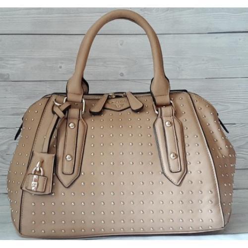 Женская сумка из кожзаменителя бежевая VF77N