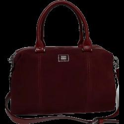 Женская замшевая сумка бордовая VF140N