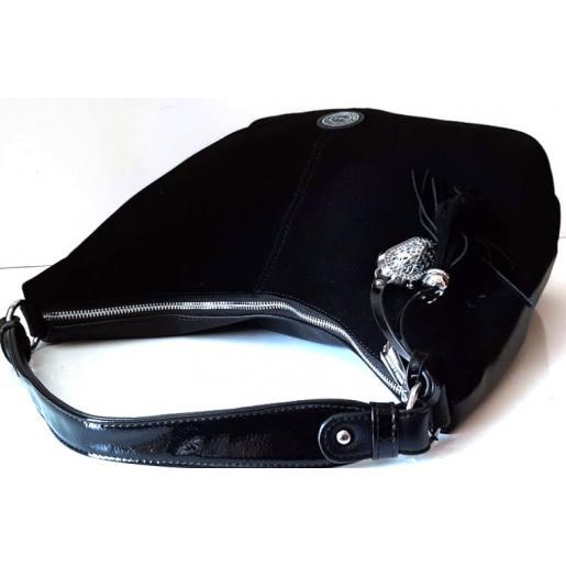 Женская замшевая сумка Polina & Eiterou 142N Черный