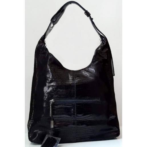Кожаная женская сумка Polina & Eiterou 152N Черный