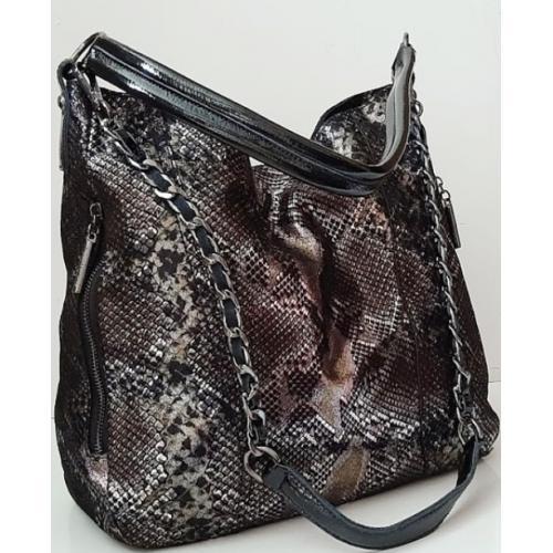 Женская кожаная сумка Polina & Eiterou 153N Питон