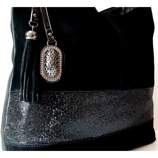 Женская сумка из замши Polina & Eiterou 149N Черный