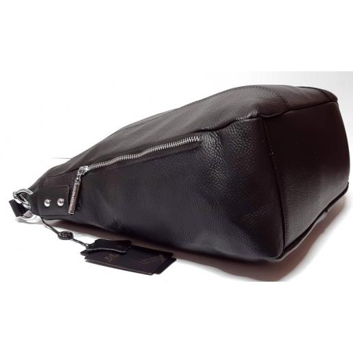 Кожаная женская сумка Polina & Eiterou BO402N Black