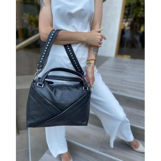 Женская сумка кожаная черная 789N
