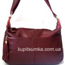 Женская кожаная сумка K11D95-1 Бордовый