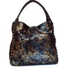 Женская сумка из замши черная Polina & Eiterou 343N