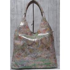 Женская кожаная сумка-баул 200N Цветная