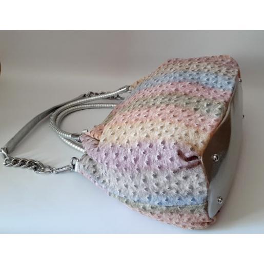 Женская сумка замшевая разноцветная Polina & Eiterou 432N