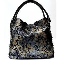 Женская замшевая сумка на плечо черная Polina & Eiterou 343N