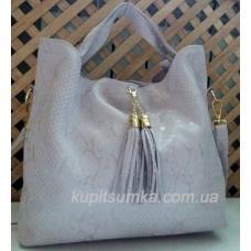 Женская кожаная сумка 54N Нежно-абрикосовый