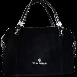 Женская сумка из замши чорна VF173N