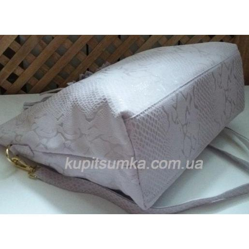 Женская кожаная сумка FR54N Нежно-абрикосовый