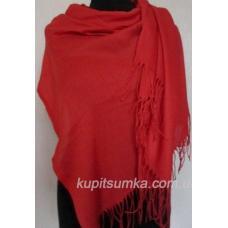 Женский красный палантин из пашмины