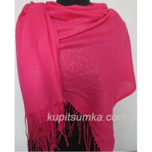 Женский палантин розовый  88Т