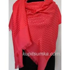 Женская шаль из кашемира и вискозы красного цвета