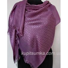 Женская шаль из кашемира и вискозы сливового цвета