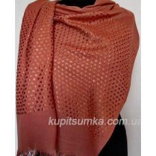 Женская шаль из кашемира и вискозы цвета охры